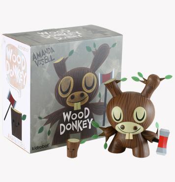 Wood Donkey Dunny -1